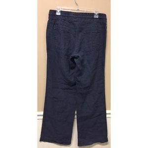 Athleta Pants - Athleta Flint Gray Lakeside Linen Pants Wide Leg
